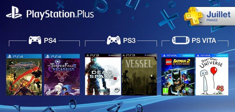 Les jeux gratuits du Playstation plus pour le mois de Juillet 2014