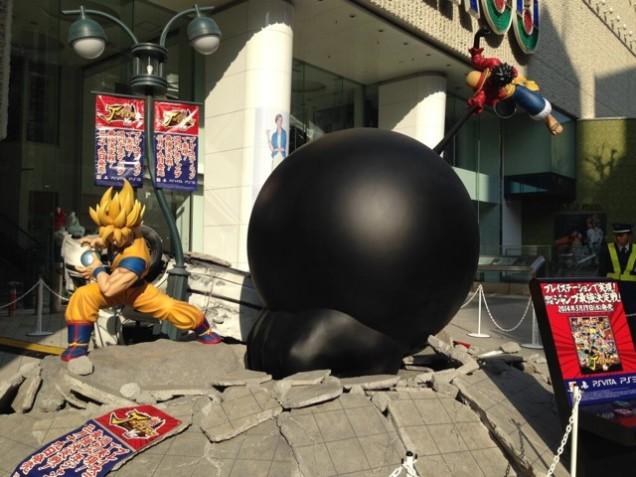 Luffy VS Goku – Une énormissime promo de J-Stars Victory VS en plein Shibuya