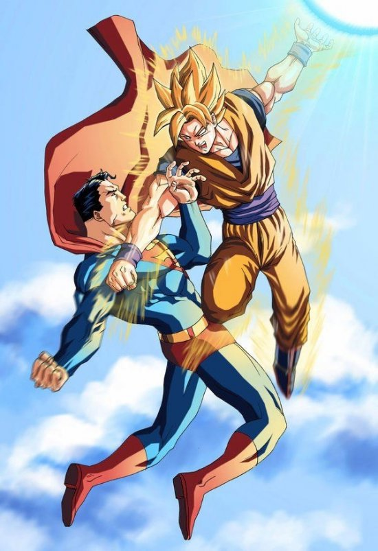 Sangoku VS Superman   qui gagnera ?